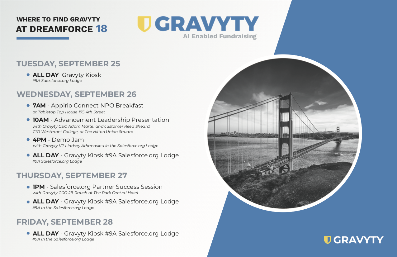 Gravyty's Dreamforce Schedule