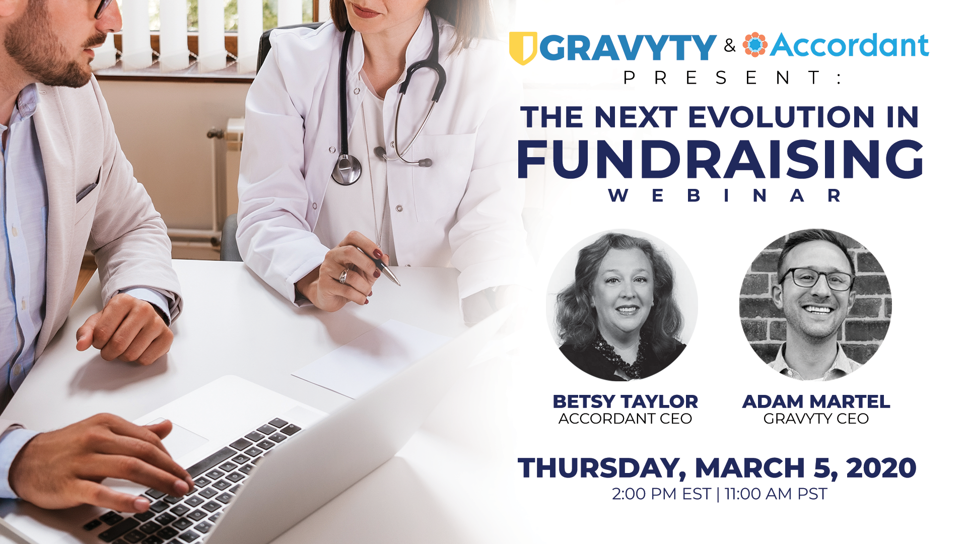Claim Your Seat For Gravyty & Accordant's Webinar: The Next Evolution in Fundraising