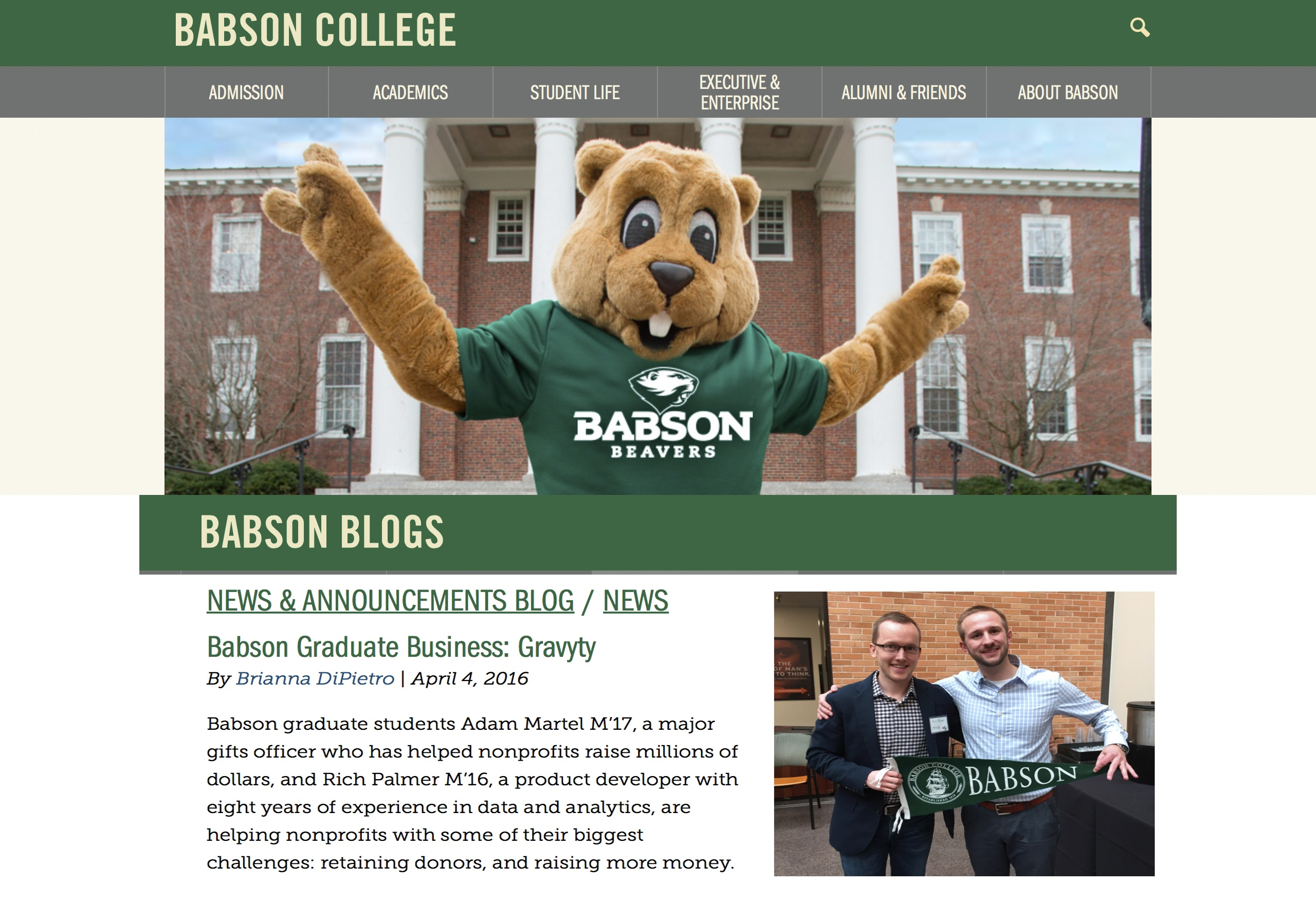 Babson article UPDATED