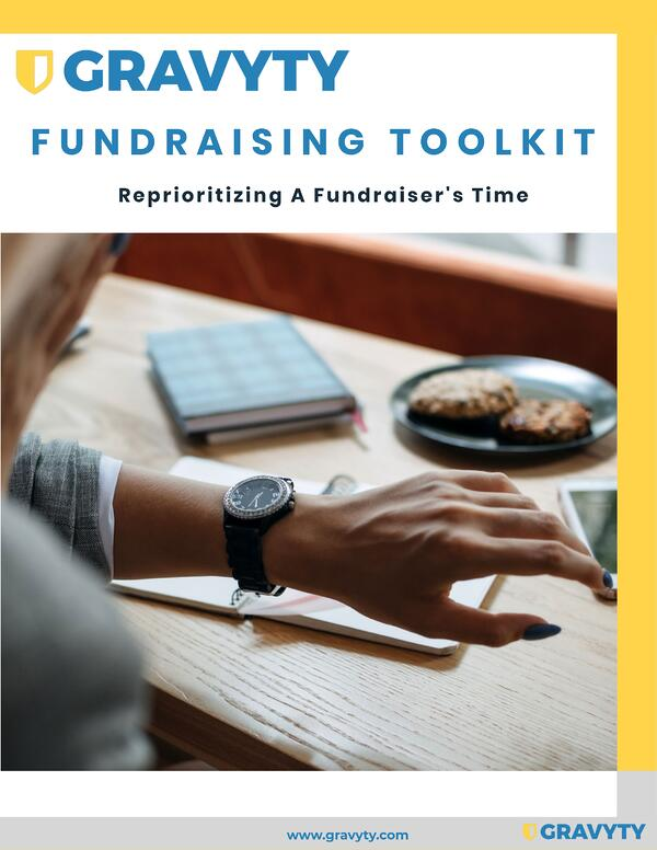 FUNDRAISING TOOLKIT REPRIORITIZING A FUNDRAISER TIME