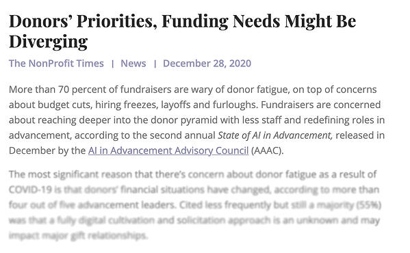 Gravyty & AAAC Report Featured In The NonProfit Times