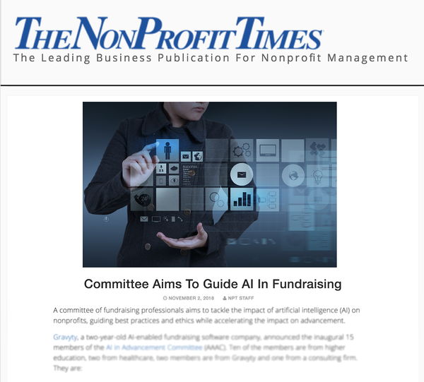 AAAC Featured in The NonProfit Times